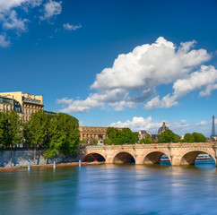 Wall Mural - Pont Neuf bridge on Seine river in Paris, France