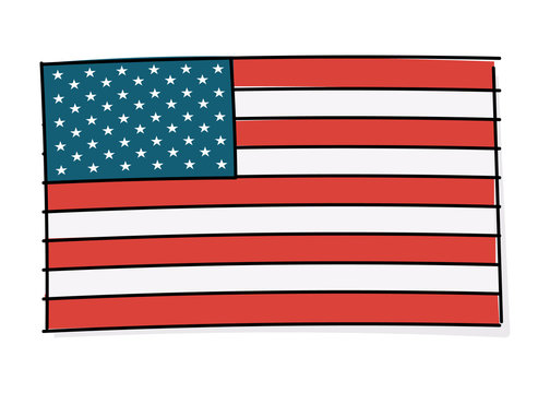 USA flag. United states of America flag vector icon illustration