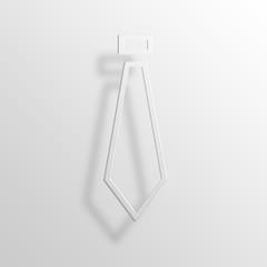Tie 3D Paper Icon Symbol Business Concept