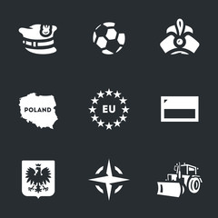 Vector Set of Poland Icons.