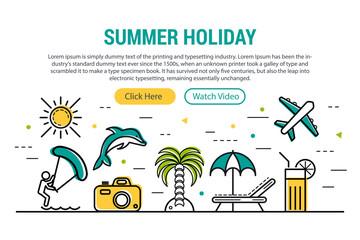 Summer holiday - rectangular site header