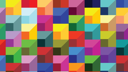 Abstract geometric shapes - stairs cheerful colors