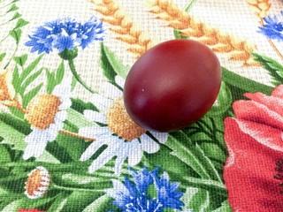 Ukrainian Easter eggs painted with onion peel