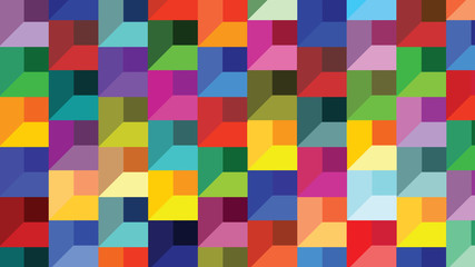 Abstract geometric shapes bricks - Cheerful colors for every wish