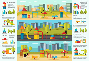 Colorful Playground Infographic Concept