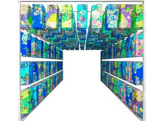art of blue japan lantern paper  decor interior isolated