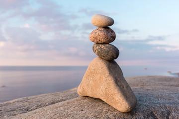 Several stones on coast