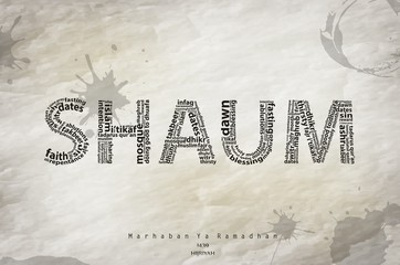 Shaum typography background