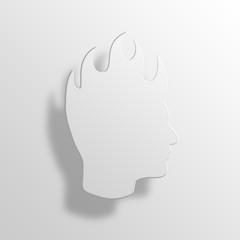 mohawk 3D Paper Icon Symbol Business Concept