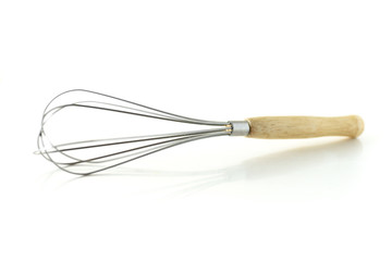 Whisk on white background,kitchen utensil