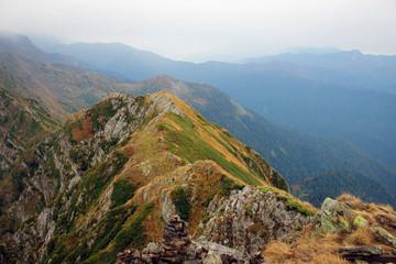 На склонах хребта Аибга, вблизи Розы Хутор, Сочи, Россия