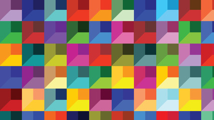 Abstract geometric shapes bricks - Cheerful colors for every thought
