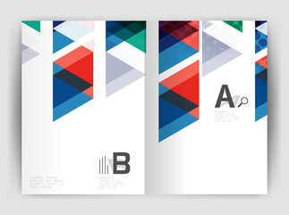 Vector triangle business annual report cover print template