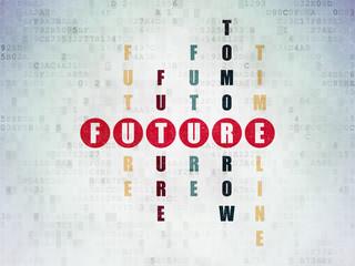 Time concept: Future in Crossword Puzzle