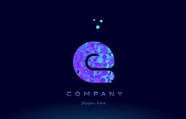 e bubble circle dots pink blue alphabet letter logo icon vector