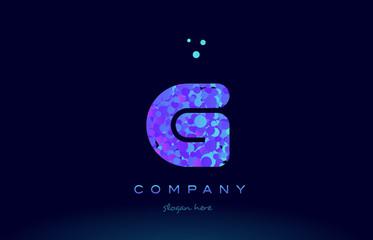 g bubble circle dots pink blue alphabet letter logo icon vector