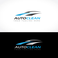 Auto Clean, Car wash, Car Logo, Auto motive icon, Vector illustration