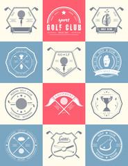 Set of Vintage Golf Logos and Badges.