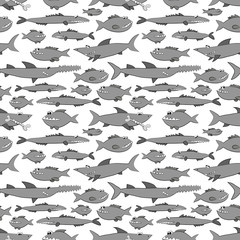 fish pattern on white background