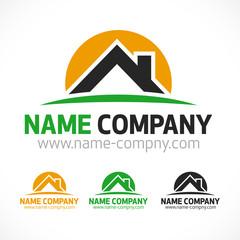 logo maison toiture