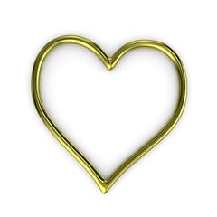Heart Shape Gold Ring Frame