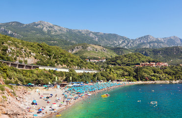 One of the smaller beaches near Budva. Montenegro