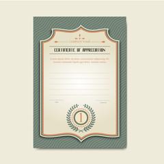 Vector certificate template