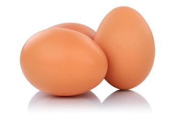 Braune Eier frisch Freisteller freigestellt isoliert