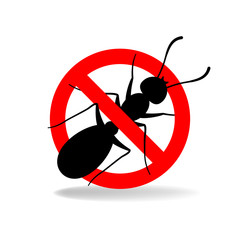 Anti ant (no ants) vector sign