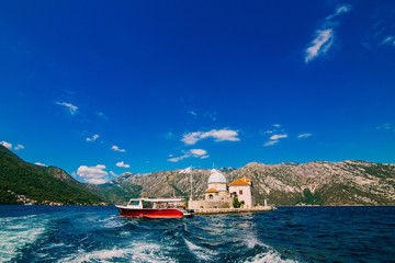 Garden Poster Scandinavia The island of Gospa od Skrpela in the Boko-Kotorsky Gulf near the town of Perast in Montenegro.