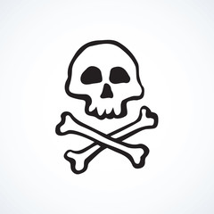 Skull and Bones. Vector drawing
