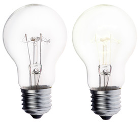 luminescent and disengaged incandescent electric lamp