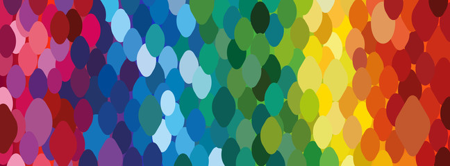Rainbow background of dots. Trendy wallpaper. Bright horizontal background