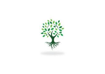 green tree nature vector logo