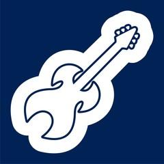 Guitar Silhouette icon - Illustration