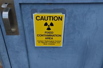 Warnschild Radioaktivität