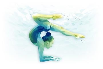 In de dag Gymnastiek Иллюстрация по теме художественная гимнастика, гимнастика, достижение цели, концентрация.