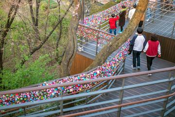 Locks of Love in Seoul tower korea