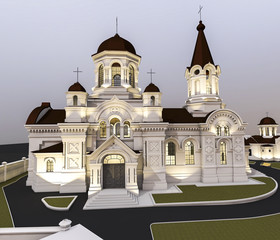 3d ilustration of beautiful orthodox church