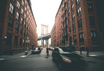 Manhattan Bridge from Washington Street - New York