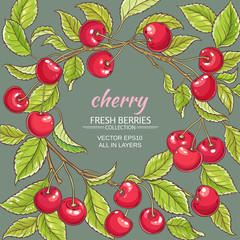cherry vector frame