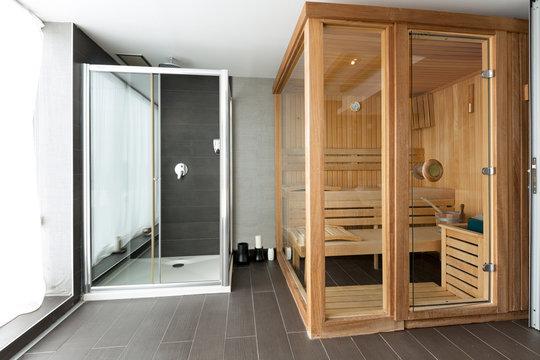 Sauna in spa center