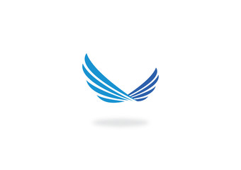 wing fly abstract vector logo