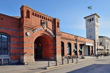 Aluminium Prints Train Station Malmö Central Railway Station