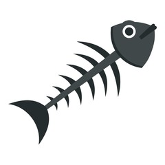 Fish bone icon isolated