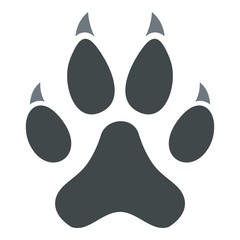 Cat paw icon isolated