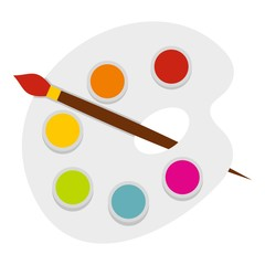 Palette icon isolated