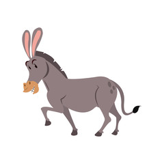 Donkey cartoon icon. Animal cute adorable and creature theme. Isolated design. Vector illustration