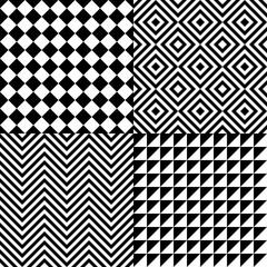 Seamless abstract pattern set