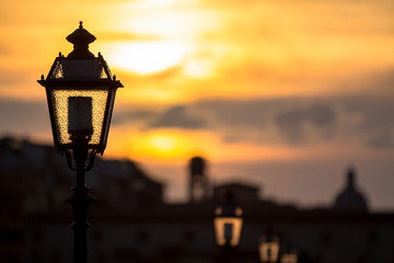 Urban sunset in Florence, Tuscany, Italy